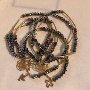 Jewelry - Artisanal Iridescent Colored Bracelet Set